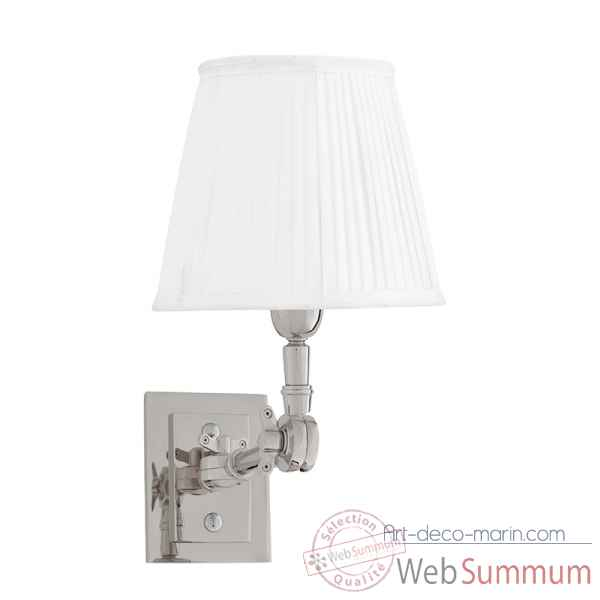 Lampe wentworth single nickel et blanc Eichholtz -LIG07221