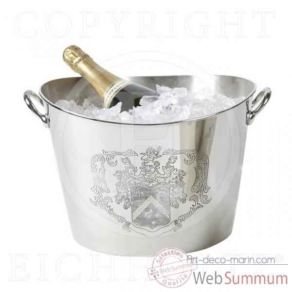 eichholtz seau champagne oval 2644 nickel acc00653. Black Bedroom Furniture Sets. Home Design Ideas