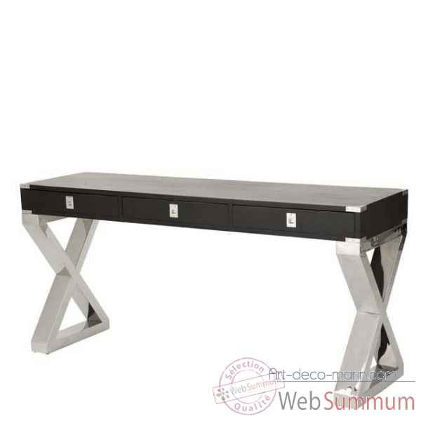 Eichholtz table console montana nickel et noir -tbl06456