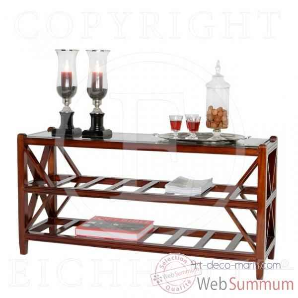Eichholtz table console slatted  acajou -tbl01080