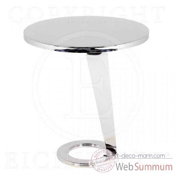 Eichholtz table dinasty  acier inoxydable -tbl05198