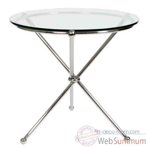 Eichholtz table madonna nickel et verre -tbl06346