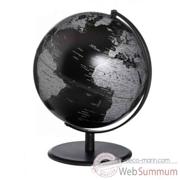globe pluto noir mat emform se 0832 dans globe terrestre marin sur art d co marin. Black Bedroom Furniture Sets. Home Design Ideas