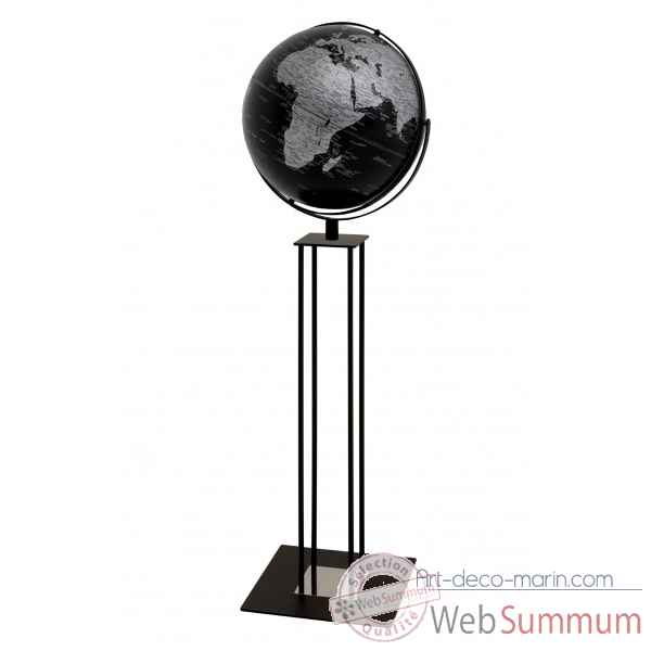 Globe sur pied worldtrophy noir mat night emform -se-0916