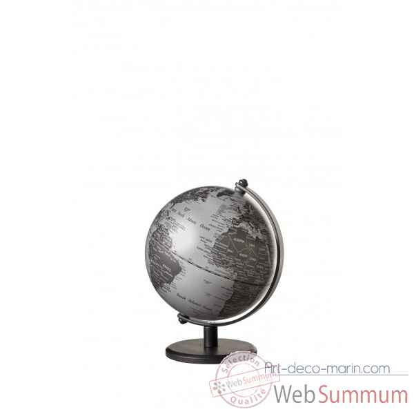mini globe gagarin argent mat emform dans globe terrestre marin sur art d co marin. Black Bedroom Furniture Sets. Home Design Ideas