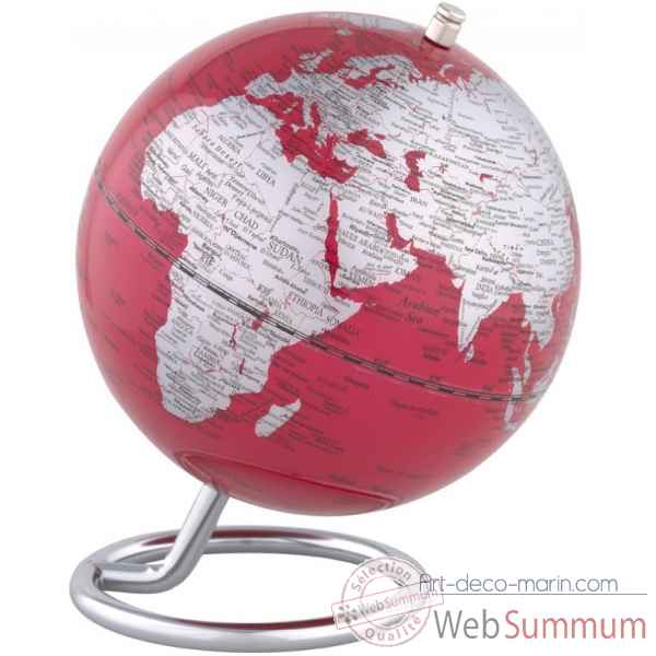 Mini globe galilei rouge emform -se-0705