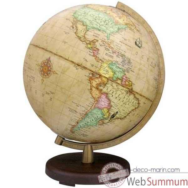 globe g ographique terra lumineux mod le terra sph re 26 cm m ridien plastique dor. Black Bedroom Furniture Sets. Home Design Ideas