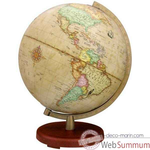 Video Globe geographique Terra lumineux - modele Terra - sphere 30 cm Antique-TR603014