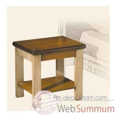 Table de chevet, epoque 19eme, avec patine - 45 x 45 x 35 cm - LI-130pc