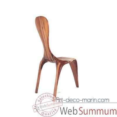 Chaise ligne d 39 eau 3 pieds 100 cm x 45 cm en bois de rauli de mobilier marin for Chaise 3 pieds