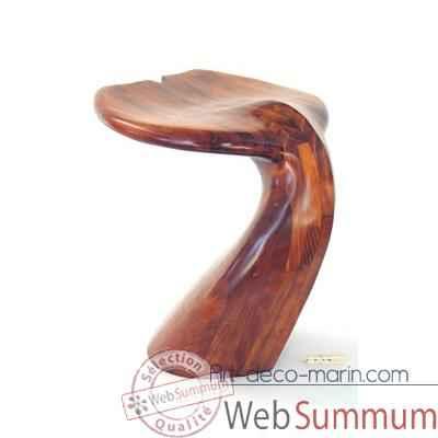 4f2ffe6741de1 Tabouret de table - Queue de baleine en bois de Rauli - Hauteur 50 cm -
