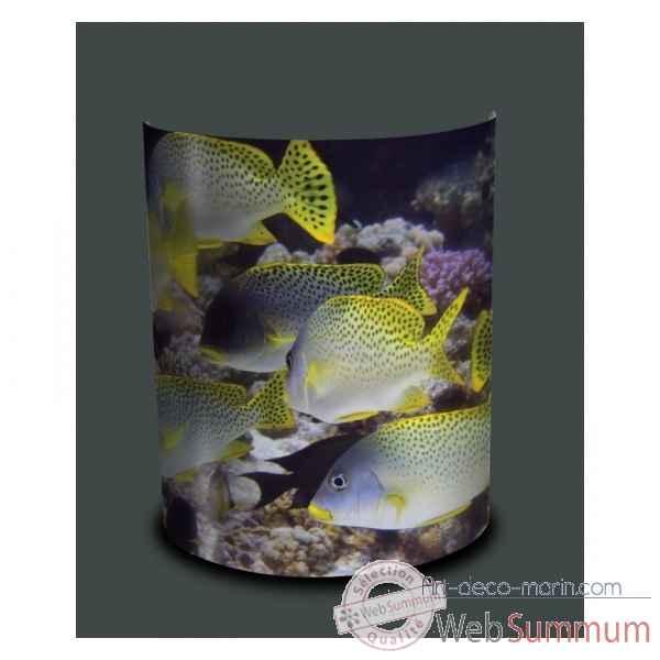 applique murale faune marine poissons jaunes et bleus de luminaire pdd de bord de mer. Black Bedroom Furniture Sets. Home Design Ideas