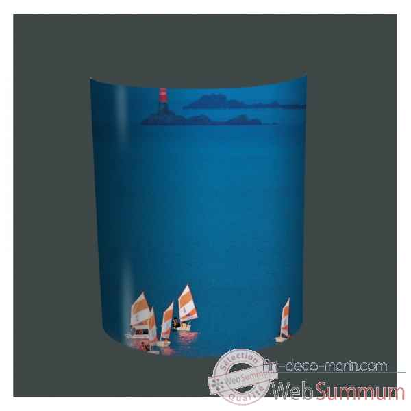applique murale plisson bateaux optimistes dans applique murale sur art d co marin. Black Bedroom Furniture Sets. Home Design Ideas