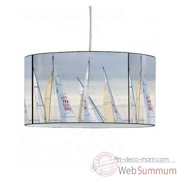 Lampe suspension collection plisson bateaux voiles -PL1625SUS