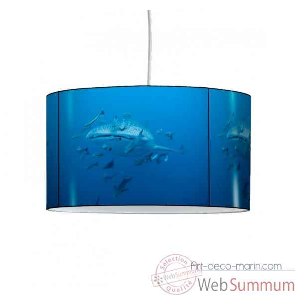 Lampe suspension faune marine requin baleine -FM1424SUS