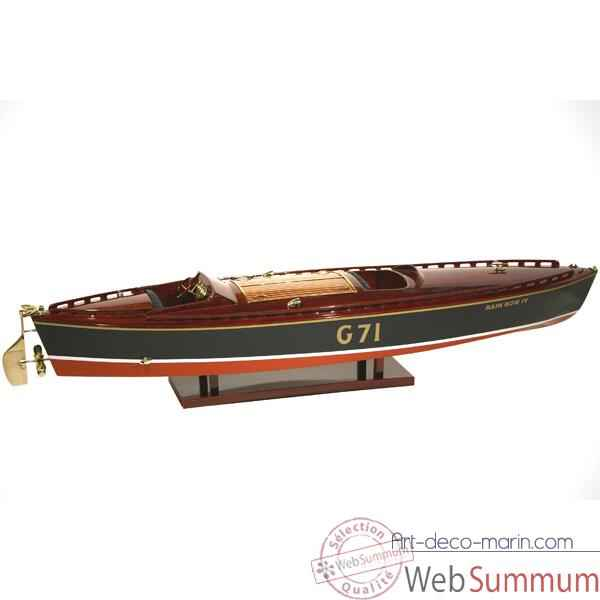 Maquette Runabout Americain-Rainbow IV-Collection Riva - R-RAIN82