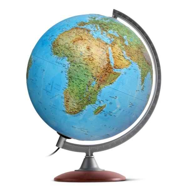 Globe lumineux tactile relief double cartographie 30 cm (diametre) Sicjeg
