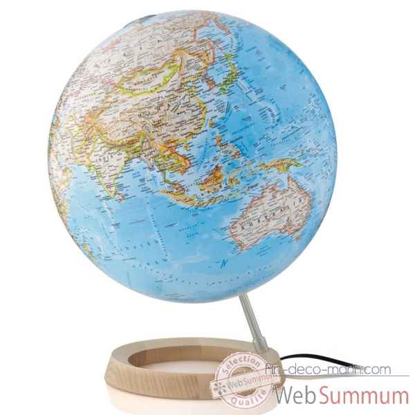Globe neon classic national geographic lumineux