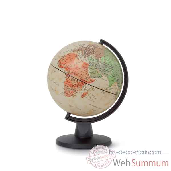 globe non lumineux mini antique 16 cm diam tre sicjeg dans globe terrestre. Black Bedroom Furniture Sets. Home Design Ideas