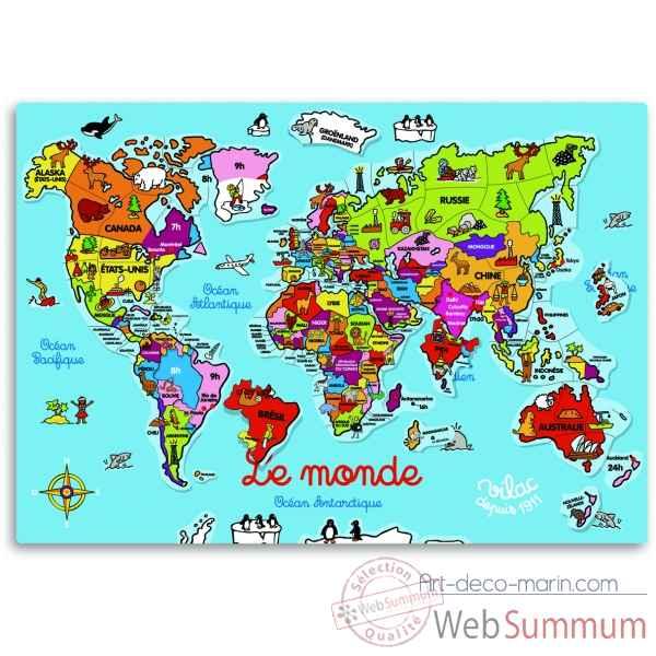 carte du monde magn tique jouet vilac 2583 dans carte du. Black Bedroom Furniture Sets. Home Design Ideas