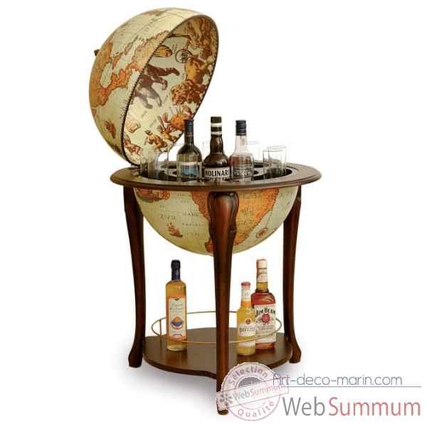 bar mappemonde avec tag re zoffoli dans bar sur art d co marin. Black Bedroom Furniture Sets. Home Design Ideas