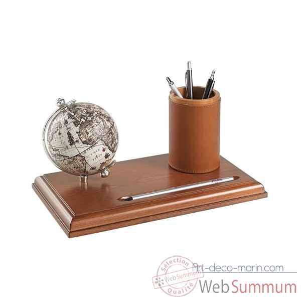 mappemonde de bureau avec compartiment pour stylos zoffoli de d coration marine. Black Bedroom Furniture Sets. Home Design Ideas