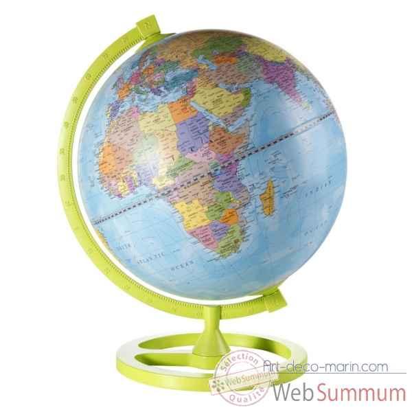 mappemonde de bureau colour circle zoffoli dans globe terrestre sur art d co marin. Black Bedroom Furniture Sets. Home Design Ideas